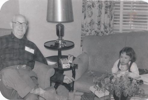 With my great grandfather, Holman Waitt,  Lois's grandson, in the late 1950's.